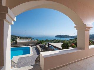 Sea Breeze Villa by Voulisma beach, at Istron Crete, accommodates max 9 people