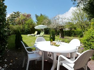 Great house and garden in village, beach 8km, cathedral  town of Coutances 5km