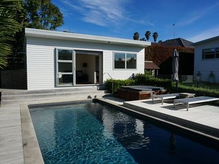 Spa and Pool Retreat near St. Heliers Beach