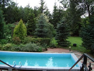 Upscale Holiday home in Zgorzale Pomeranian with Private Pool