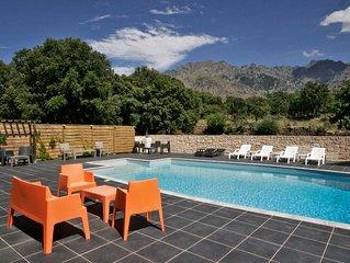 T2 ALIVU dans une villa corse, tout confort, au calme, avec piscine.