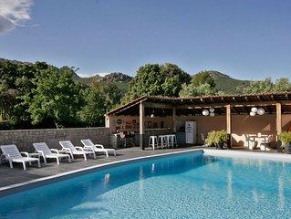 T3 CLEMENTINU dans une villa corse, tout confort, au calme, avec piscine.