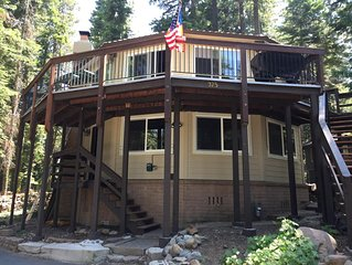 Unique 12-Sided West Shore Tahoe Cabin