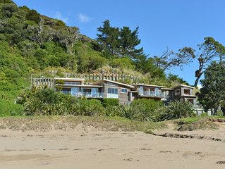 Woolleys Bay house on the beach