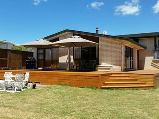 Comfortable large house with large deck