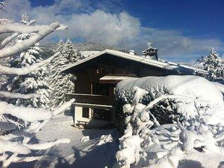 Megève Chalet familial 4 Chbres/8p tout confort, charme, garage, Rochebrune