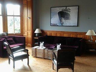 Maison 7 chambres, centre ville Houlgate, 200 m de la mer