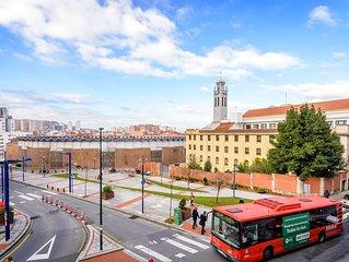Bilbao Plaza de Toros, Centrico,  PARKING , WIFI. Ideal Familias