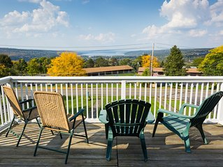 Full treetop setting apartment with sweeping views of Cayuga Lake and Ithaca