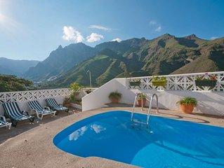 Casa vacacional con piscina privada en Agaete