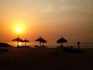Paradise! On The Beach Of Southern Gambia, West Africa.