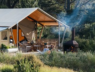 Luxury Glamping over looking the Maraetotara river