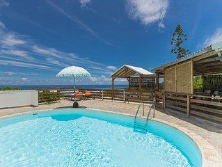 Villa Les Brisants les pieds dans l'eau piscine et parking privés