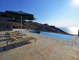 Modern stone villa with a swimming pool, large terrace and  fantastic sea view.