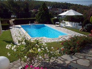 Unique villa near sea , with a greek\island architecture style builded incide a