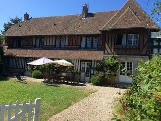 Deauville : grande maison familiale a 300m de la plage, 14 couchages