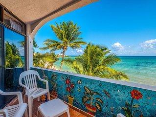 Beachfront condo with an Incredible Ocean View - AC, Wifi