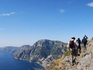 Hiking- suite , vista mare , in Costa Amalfitana,vicino al Sentiero Degli Dei