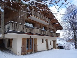 Convenient and cosy apartment for 4 people with fantastic views of Mont Blanc
