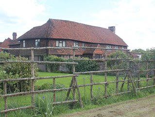 Converted 4 bedroom barn over looking manor house in quiet country setting