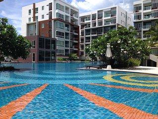 Top Floor 2 Bedroom 2 Bathroom Sea-Facing Apartment with huge pool at Seacraze