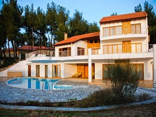 Super-luxurious villa with a private swimming pool, very close to the beach