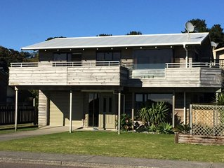 Ocean front home at Ohope Beach.