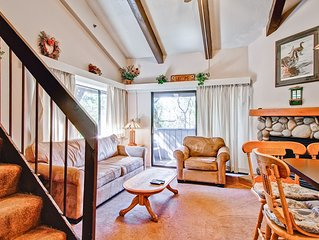 Loft Condo B212 has two levels with an open space room (there are no bedrooms)