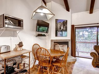 Loft Condo B207 has two levels with an open space room (there are no bedrooms)