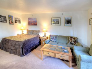 Studio A110 is furnished with one queen-size  regular bed, a queen-size sofa bed