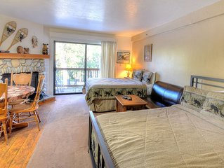 Studio A111 is furnished with 2 queen-size beds and a single full bath, just lik