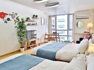 Largest Flat in Gangnam #1 (Premium Bed)