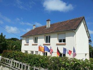 Gite a la plage d'Utah Beach et reserve naturelle de Beauguillot (Normandie)