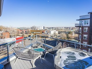 Unique 4 Story Townhome with Rooftop Hot Tub in the Heart of Denver