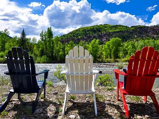 Mountain Home on Riverfront in Redstone-near Aspen, Carbondale, Glenwood Springs