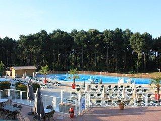 Appartement RDC 6 pers, résidence avec piscine extérieure chauffée