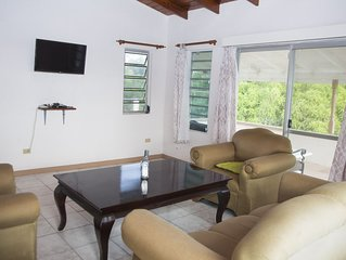 Spacious villa in mature gardens, near beaches, shops and reputable schools.
