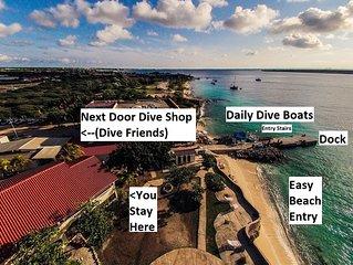 BEACHFRONT/DOCK/DIVE SHOP/Sand Dollar - 1 Bdrm