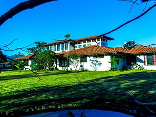 Huge Spanish Villa with Volcano views, Toucans between the Airport and the Beach