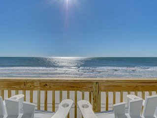 New Full Remodel 2/26/19 Single Story Private Oceanfront with Hot Tub Sleeps 10