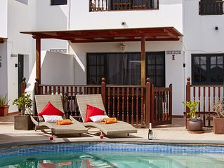 Family-Friendly Villa, Quaint Fishing Village, near the Beach, w/a Solar Pool