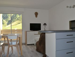 Flat La Mongie with Wifi, the slopes, covered parking included