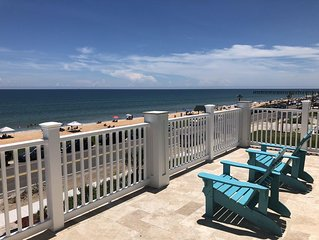 Fantastic View! Brand New Oceanfront Beach House; Steps from the Beach!