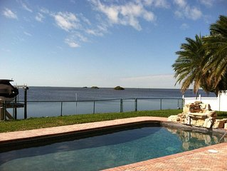 Large Luxury Gulf Front House With Private Dock On Water