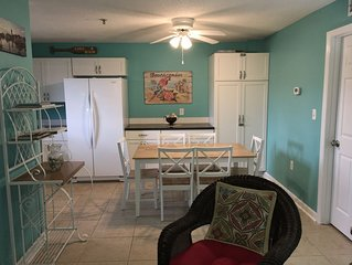 Newly remodeled kitchen!! All new cabinets, countertop, fridge and mircowave!