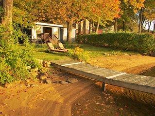 Lakefront Cottage with Kayaks 5 Night Minimum