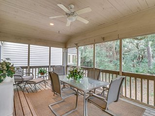 Charming home w/ woods views, & shared pool - dogs welcome!