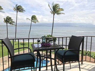 Maui Ocean Front View Nice Remodel Washer/Dryer A/C Living Room*Milowai 303*