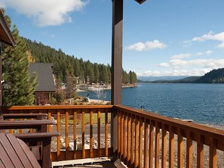 Donner Vista on Donner Lake - 180 degree view, private communal dock!