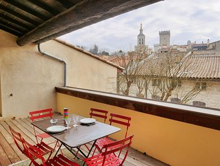 Appartement Avignon centre historique 3 chambres / terrasse / clim / Wifi / park